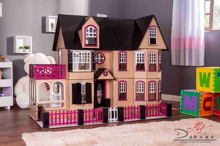 Casa de Bonecas Escala Barbie Modelo Stefannie Eco - Darama
