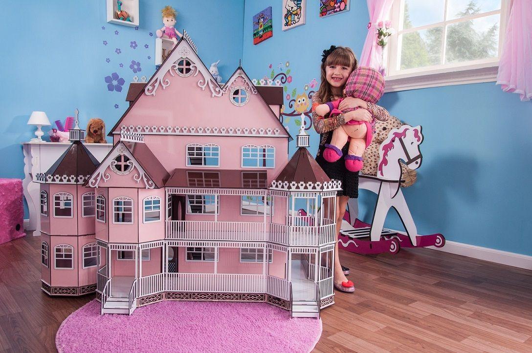 Casa de Bonecas Escala Polly Mansão Ashley Princesa - Darama