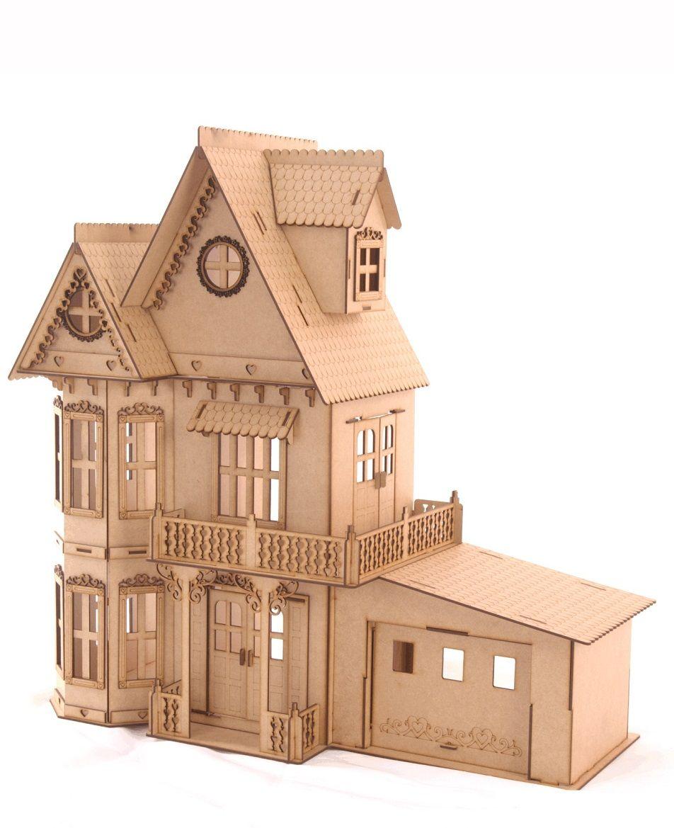 Casa de Bonecas Escala Polly Modelo Anne Natural - Darama