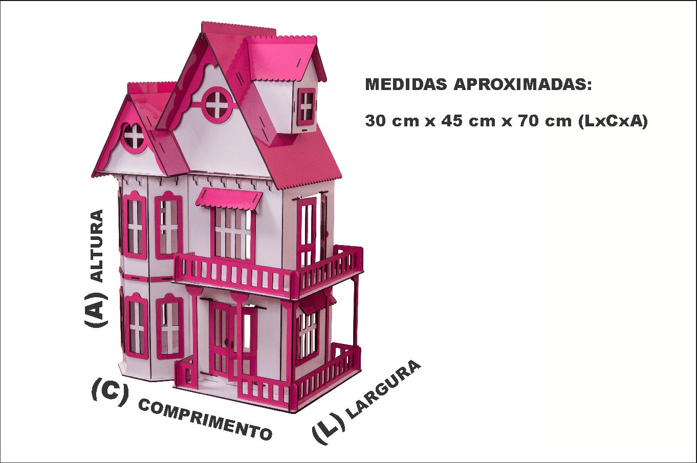 bad222fd2 Casa de Bonecas Escala Polly Modelo Mirian Sonhos - Darama - Darama ...