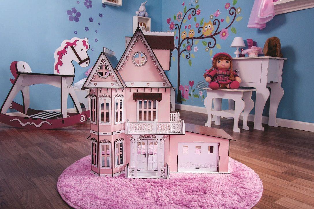 Casa de Bonecas Escala Polly Modelo Anne Princesa  Com Garagem - Darama