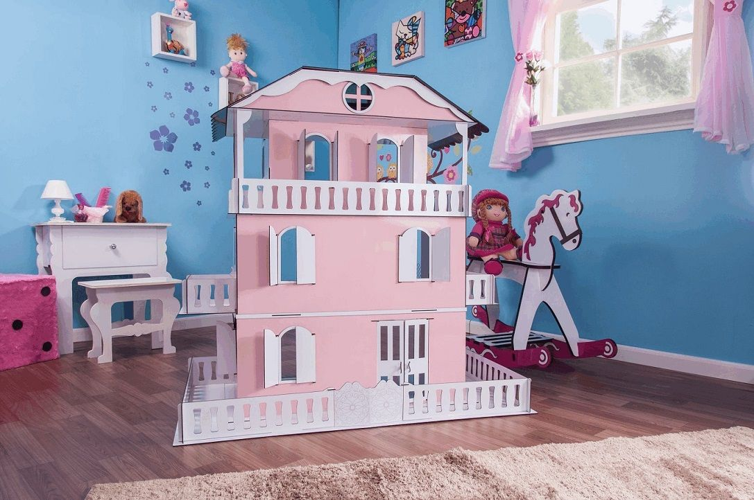 Casinha de Bonecas Escala Barbie Modelo Suzan Princesa - Darama