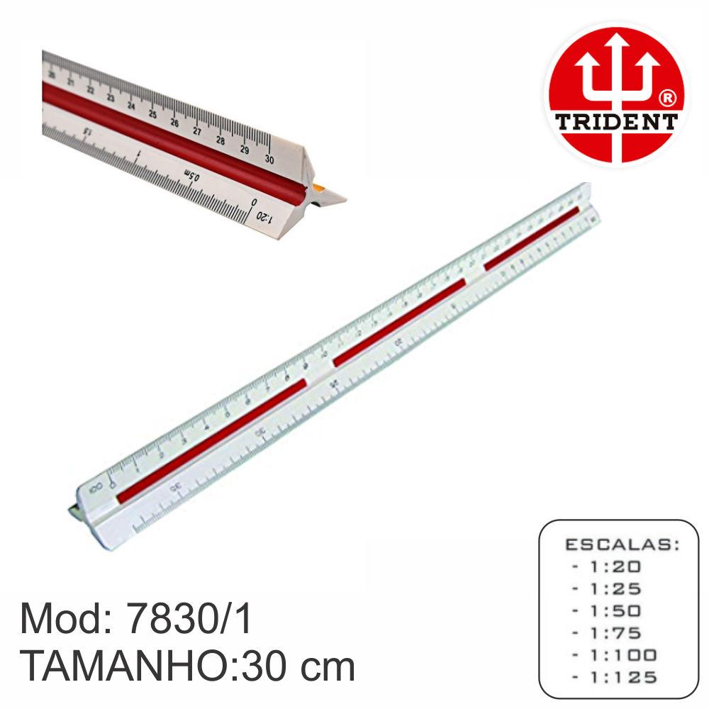 Escalimetro Trident 7830 Escala Triangular numero 1 Desetec