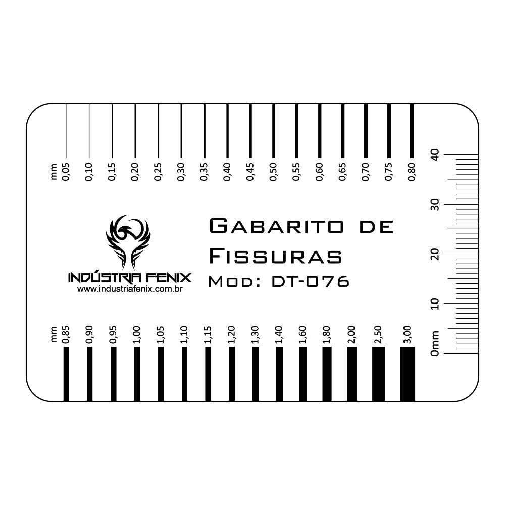 Fissurômetro Gabarito Fissuras Régua FISS04  Transp Fenix
