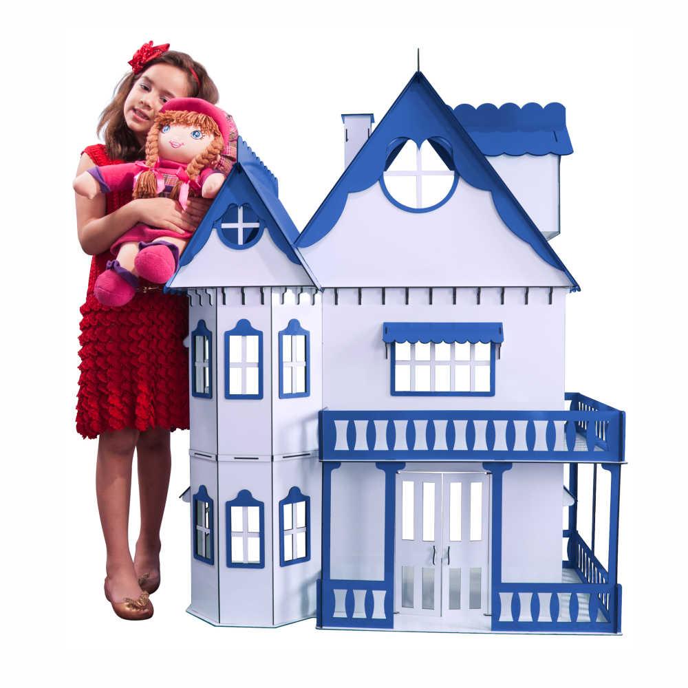 Kit Casa Boneca e Móveis Escala Barbie Emily L+B - Darama