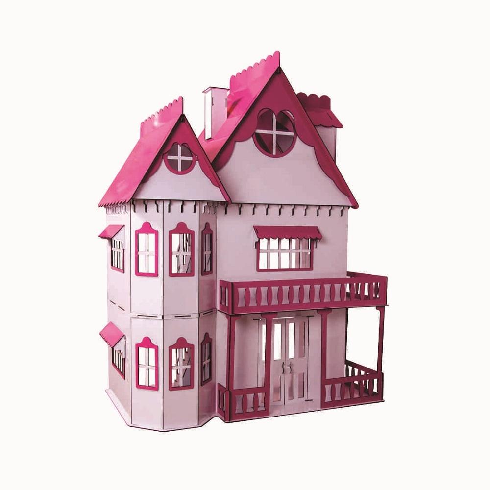 Kit Casa Boneca e Móveis Escala Barbie Emily S+B - Darama