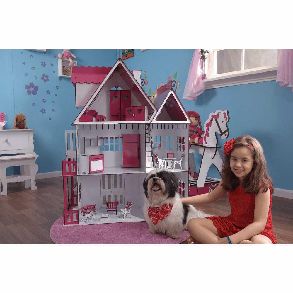 Kit Casa Boneca e Móveis Escala Barbie Emily S+S - Darama