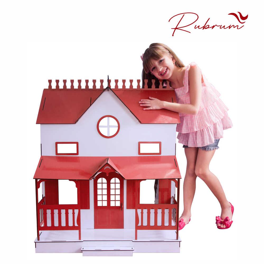 Kit Casa Bonecas Barbie E Móveis Lian Princesa R+B - Darama