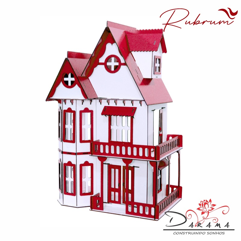 Kit Casinha Bonecas Polly lol Mirian + 21 Moveis R+b - Darama