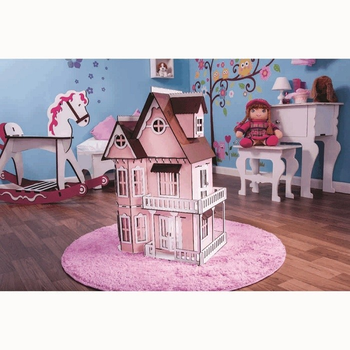 Kit Casinha Bonecas Polly Mirian PRINCESA + 29 Moveis P+b - Darama