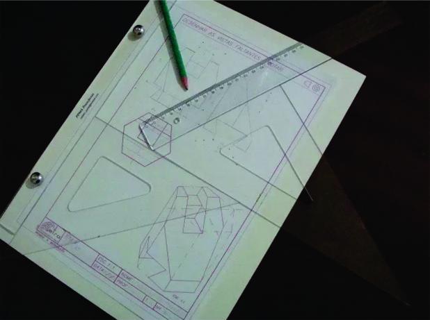 Kit Desenho Técnico Prancheta a4 Branca Compasso Cis 303 - Fenix