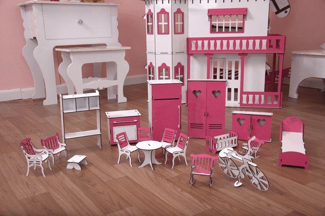 Kit Móveis Em MDF Sonhos 18 Peças Escala Barbie - Darama