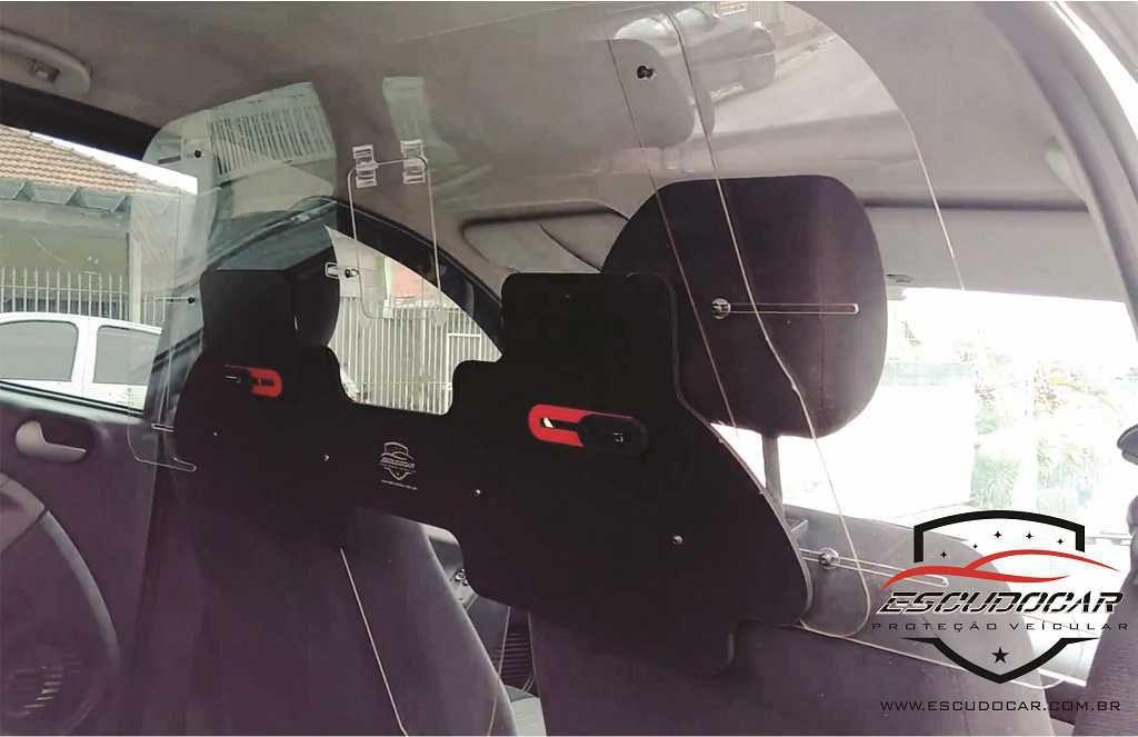 Placa Escudo Para Proteção Motorista Vírus Aplicativo Mobilidade Urbana Taxi app PT - Escudocar