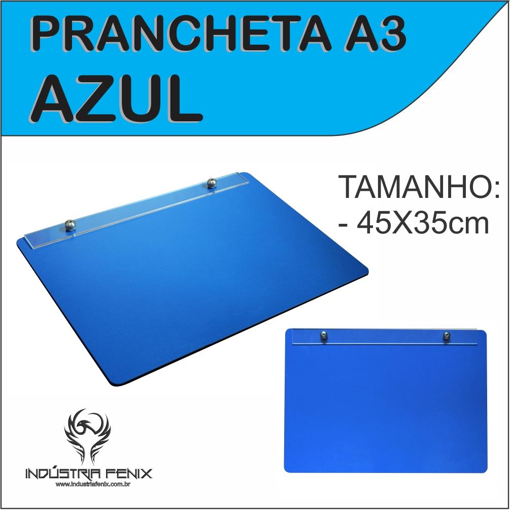Prancheta Portátil Desenho Técnico Madeira AZUL A3 - Fenix