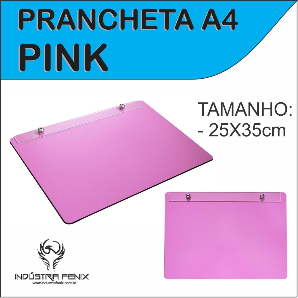 Prancheta Portátil Desenho Técnico Madeira PINK A4 - Fenix