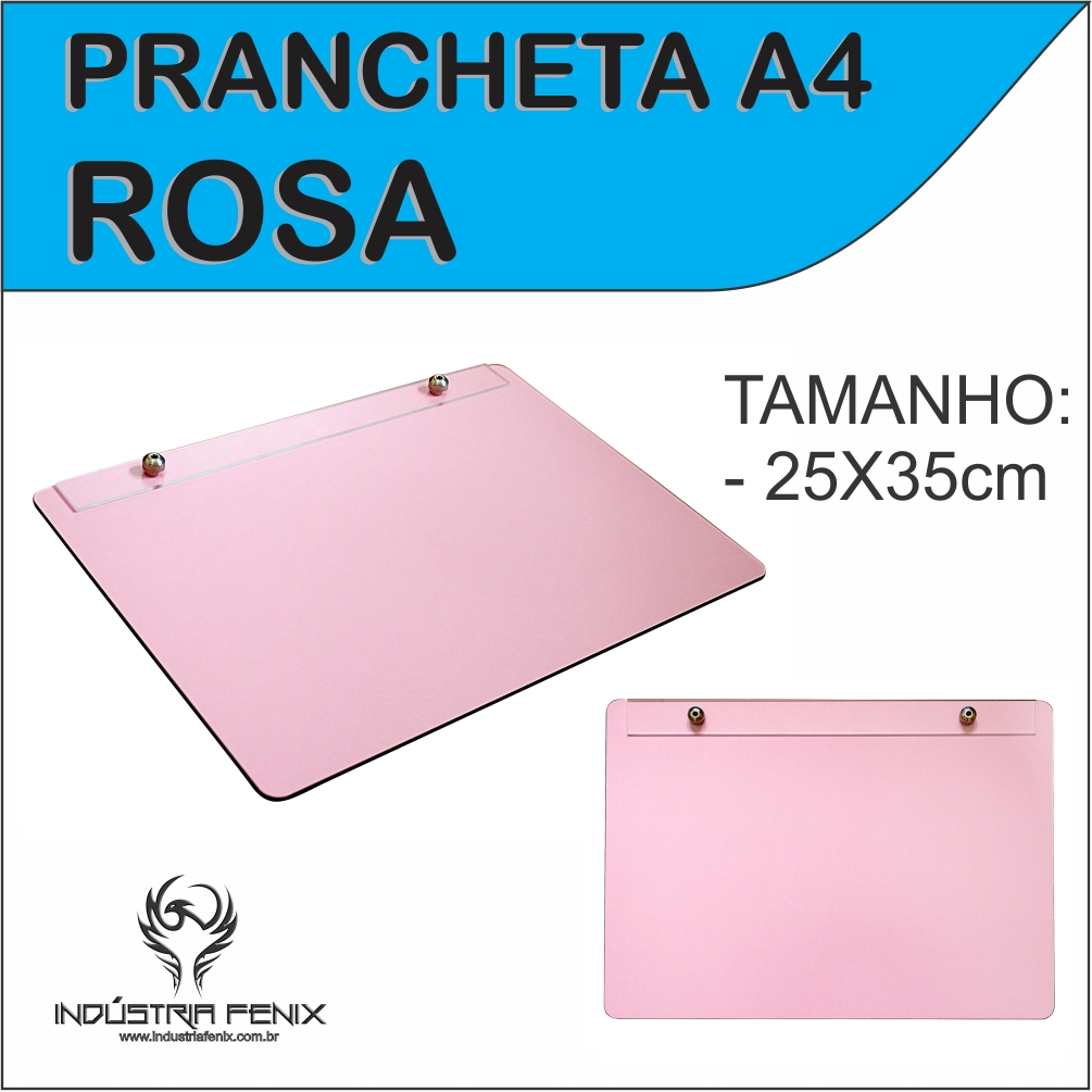 Prancheta Portátil Desenho Técnico Madeira ROSA A4 - Fenix