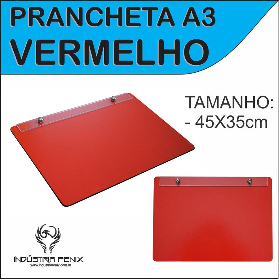 Prancheta Portátil Desenho Técnico Madeira VERMELHO A3 - Fenix