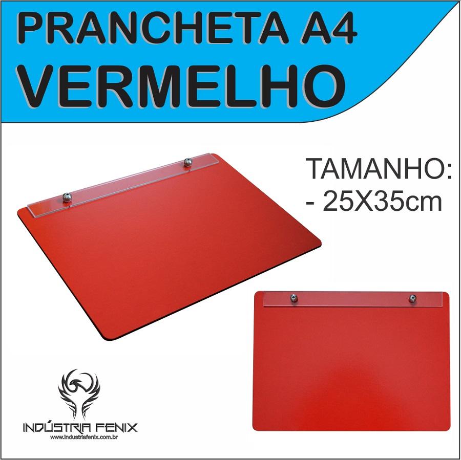 Prancheta Portátil Desenho Técnico Madeira VERMELHO A4 - Fenix