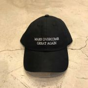 "Dad Hat Overcome ""Make Overcome Great Again"" Preto"