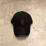 """Dad Hat Overcome """"Logo"""" Preto/Vermelho"""