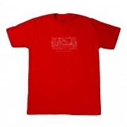 """Camiseta Burglar """"WorldWide"""" Vermelha"""