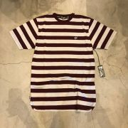 "Camiseta DGK ""Folson SS Knit"" Cinza/Bordo"