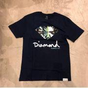 "Camiseta Diamond ""Simplicity Sign"" Azul Marinho"