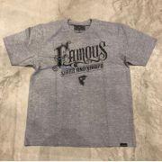 "Camiseta Famous ""Distinct"" Cinza"