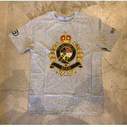 "Camiseta Gold ""Polo Rope"" Cinza"