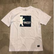 "Camiseta Grizzly ""Deep Water"" Branca"