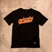 """Camiseta Grizzly """"Fast Time"""" Preta"""