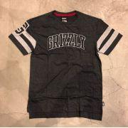 "Camiseta Grizzly ""Fifty Yard Line Knit SS"" Cinza Chumbo"