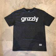 "Camiseta Grizzly ""Lowercase"" Cinza"
