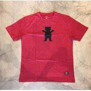 """Camiseta Grizzly """"Og Bear"""" Mescla Vermelha"""