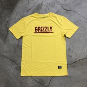 "Camiseta Grizzly ""Stamped"" Amarela"