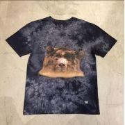 """Camiseta Grizzly """"Submerged"""" Tie Dye Preta"""