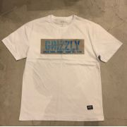 """Camiseta Grizzly """"Washed Up"""" Branca"""