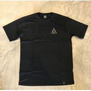 "Camiseta HUF ""Triangle"" Preta"
