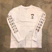 """Camiseta Manga Longa Diamond """"Demons"""" Branca"""