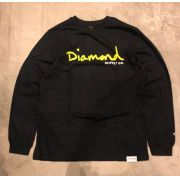 "Camiseta Manga Longa Diamond ""Og Script"" Preta"
