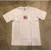 "Camiseta Overcome ""USA"" Branca"