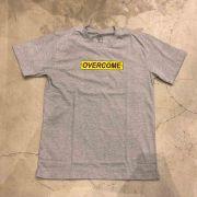 "Camiseta Overcome ""Yellow Logo"" Cinza"