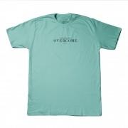 "Camiseta Overcome ""Est 2011"" Azul Tiffany"