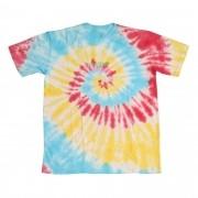 "Camiseta Overcome ""Furtacor 2"" Tie Dye (Azul/Amarela/Vermelha)"