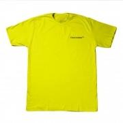 """Camiseta Overcome """"Mini Script"""" Amarela"""