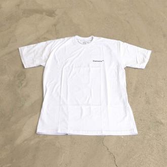 "Camiseta Overcome ""Mini Script"" Branca"