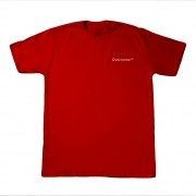 "Camiseta Overcome ""Mini Script"" Vermelha"