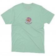 "Camiseta Overcome ""Purple Daisy"" Tiffany"