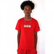 """Camiseta Primitive """"Goku Saiyan"""" Vermelha"""