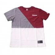 """Camiseta Starter """"Script Black Label"""" Bordô/Cinza/Branco"""
